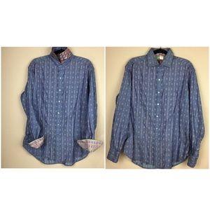 Robert Graham Mens Button Down Shirt. Size Medium